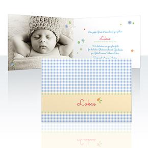 Geburtskarten - Babydecke