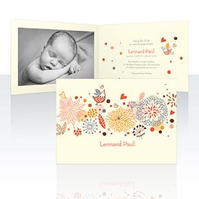 Geburtskarten - Blumenmuster