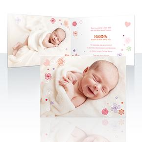 Geburtskarten - Streublume