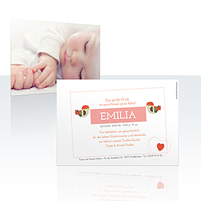 Geburtskarten - Piepmatz