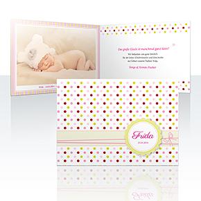 Geburtskarten - Pünktchen