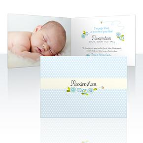 Geburtskarten - Rosenranke
