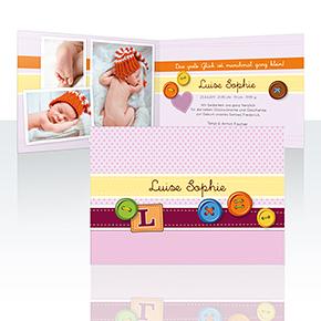 Geburtskarten - Knöpfchen