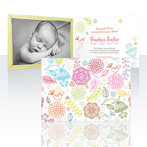 Geburtskarten - Filia