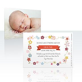 Geburtskarten - Blümchen