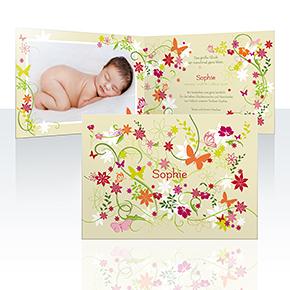 Geburtskarten - Blumenwiese