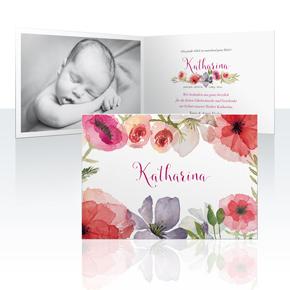 Geburtskarten - Flora