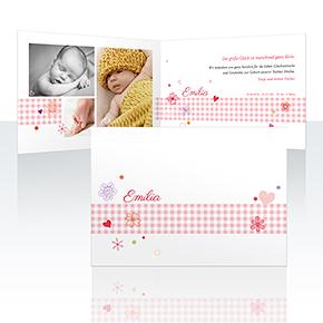 Geburtskarten - Geschenkband