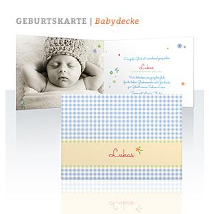 Geburtskarte Babydecke