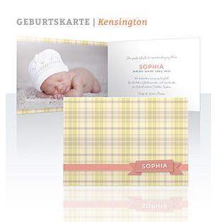 Geburtskarte Kensington