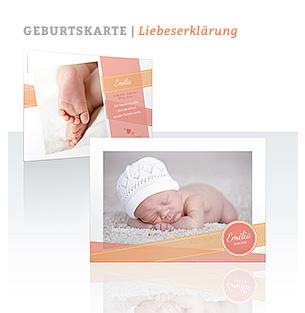 Geburtskarte Liebeserklärung