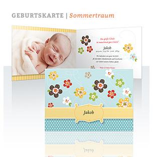 Geburtskarte Sommertraum